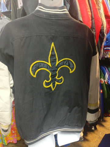 Vintage NEW ORLEANS SAINTS NFL Back Patch Mirage Jacket XL