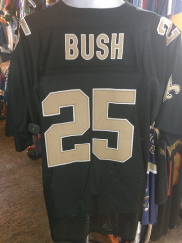 Vtg #25 REGGIE BUSH New Orleans Saints NFL Mitchell & Ness Jersey 56
