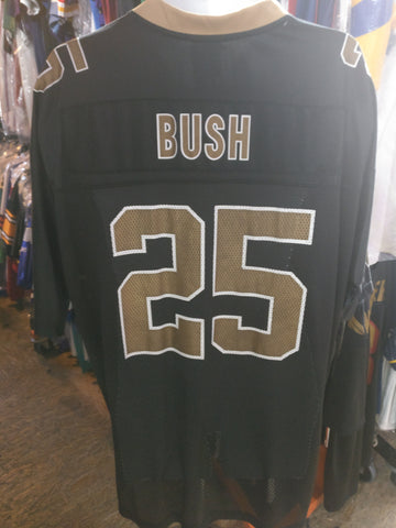 Vintage #25 REGGIE BUSH New Orleans Saints NFL Reebok Jersey XL
