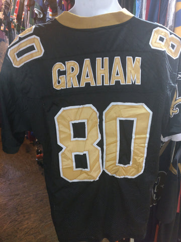 Vtg #80 JIMMY GRAHAM New Orleans Saints NFL Reebok Authentic Jersey 48