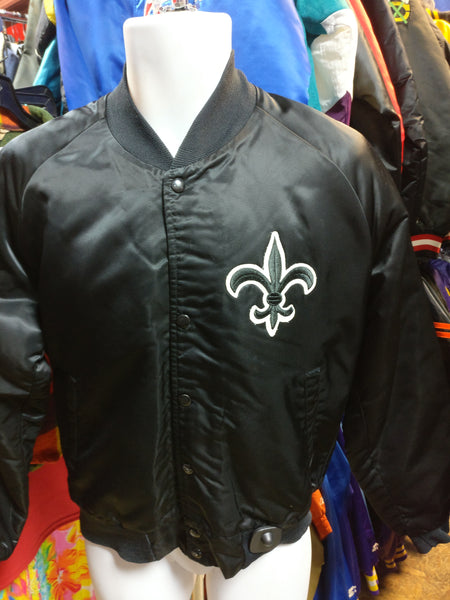 Vintage 80s NEW ORLEANS SAINTS NFL Chalk Line Nylon Jacket M