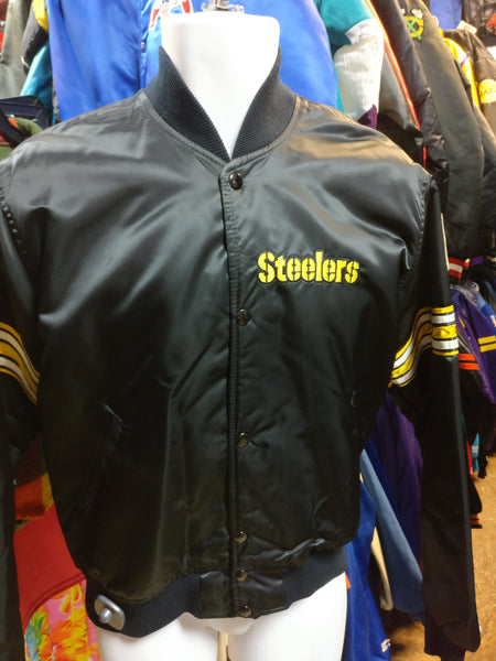 new product 92bd5 e4ed7 Vintage 80s PITTSBURGH STEELERS NFL Starter Nylon Jacket M