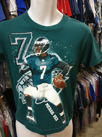 Vtg #7 MICHAEL VICK Philadelphia Eagles Reebok T-Shirt YS (Deadstock)