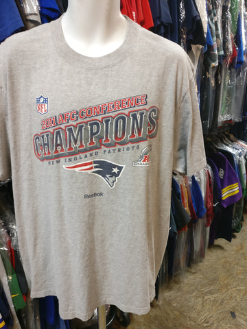 Vtg '11 NEW ENGLAND PATRIOTS AFC Conference Champs Reebok T-Shirt 2XL