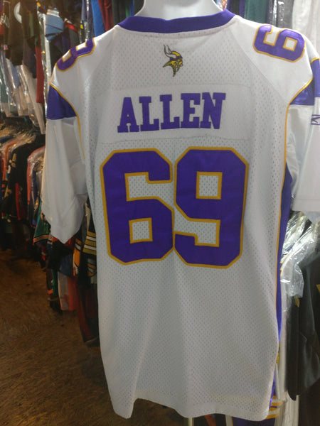 newest collection f02c8 d6c5d Vtg #69 JAREN ALLEN Minnesota Vikings NFL Reebok Authentic Jersey 52