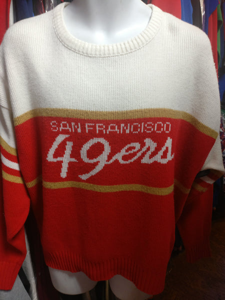 online store 07263 c57b8 Vintage 80s SAN FRANCISCO 49ERS Cliff Engle NFL Sweater L