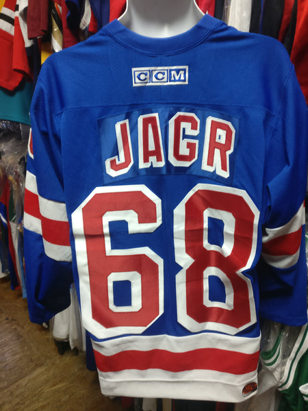 buy popular 72598 4f3f8 Vintage #68 JAROMIR JAGR New York Rangers NHL CCM Jersey S