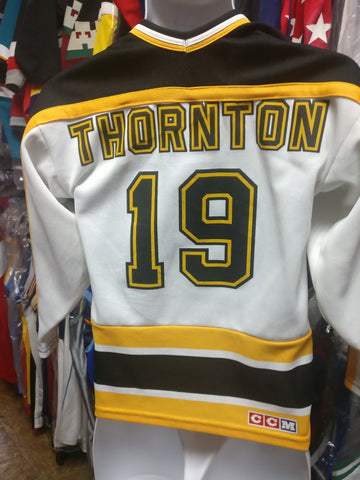 Vintage #19 JOE THORTHON Boston Bruins NHL CCM Jersey YM