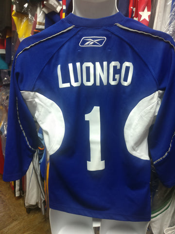 Vtg #1 ROBERTO LUONGO Vancouver Canucks NHL RBK CCM Jersey YL/14-16