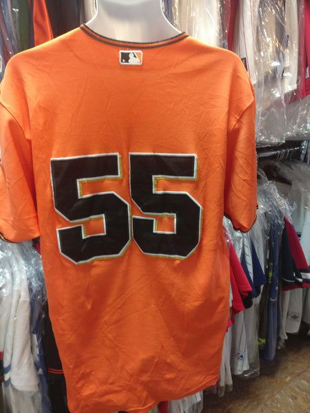 Vtg #55 TIM LINCECUM San Francisco Giants Majestic Authentic Jersey 50