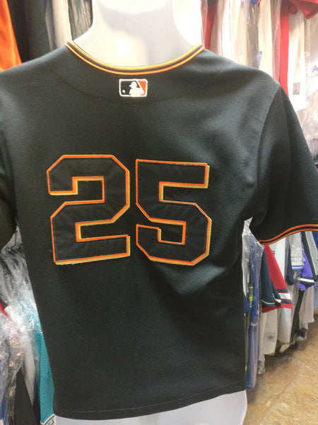 Vtg#25BARRY BONDS SF Giants MLB Russell Athletic Authentic Jersey10-12