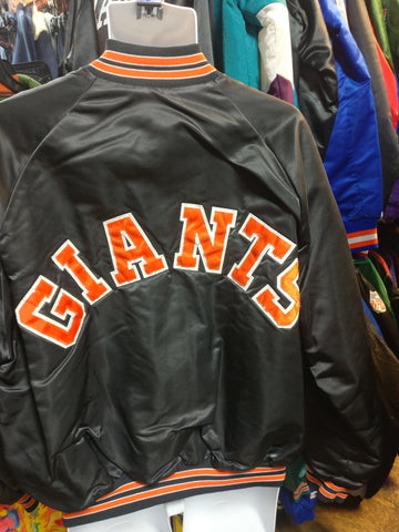 Vtg 80s SAN FRANCISCO GIANTS MLB Chalk Line Back Patch Nylon Jacket XL