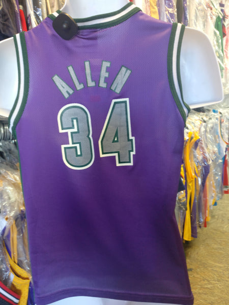 separation shoes 7ee7f f9b5e Vintage #34 RAY ALLEN Milwaukee Bucks NBA Champion Jersey 10-12