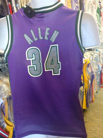 Vintage #34 RAY ALLEN Milwaukee Bucks NBA Champion Jersey 10-12