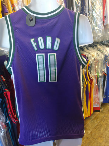 Vintage #11 TJ FORD Milwaukee Bucks NBA Nike Jersey YL