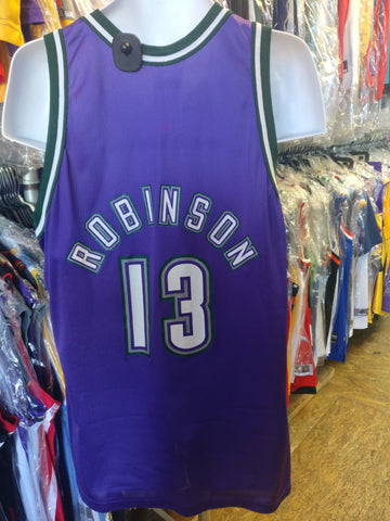Vintage #13 GLENN ROBINSON Milwaukee Bucks NBA Champion Jersey 48