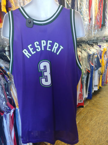 Vintage #3 SHAWN RESPERT Milwaukee Bucks NBA Champion Jersey 52