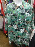 VtgUNIVERSITY OF HAWAII RAINBOW WARRIORS Reyn Spooner Hawaiian Shirt3XL