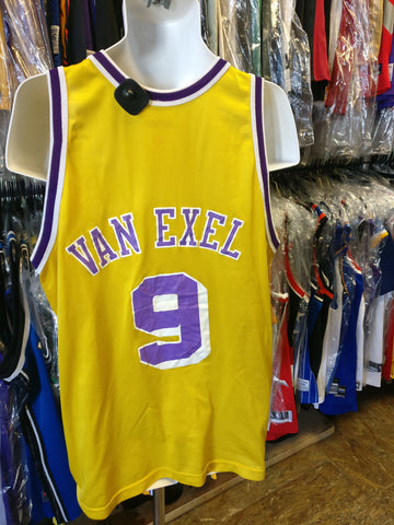 Vintage #9 NICK VAN EXEL Los Angeles Lakers NBA Champion Jersey 48