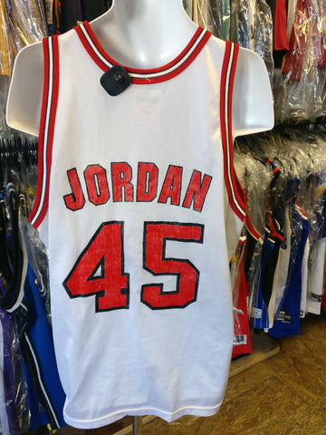 Vintage #45 MICHAEL JORDAN Chicago Bulls NBA Champion Jersey 48