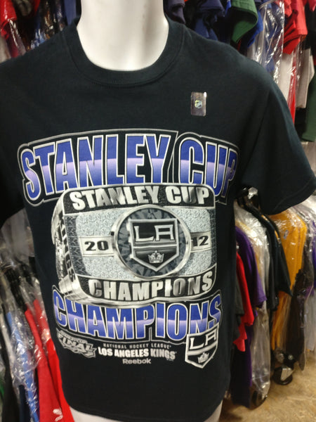 Vtg '12 LOS ANGELES KINGS NHL Stanley Cup Champs T-Shirt S (Deadstock)