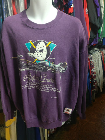 Vintage 90s ANAHEIM MIGHTY DUCKS NHL Nutmeg Sweatshirt XL