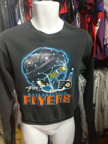 Vintage 90s PHILADELPHIA FLYERS NHL Fire on Ice CSA Sweatshirt 16-18