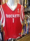 Vtg #1 TRACY McGRADY Houston Rockets NBA Reebok Authentic Jersey YXL