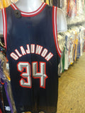 Vtg #34 HAKEEM OLAJUWON Houston Rockets Champion Jersey 48 (Deadstock)