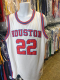 Vtg '83 #22 CLYDE DREXLER Rockets NBA True School Authentics Jersey 52
