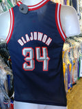 Vtg #34 HAKEEM OLAJUWON Houston Rockets NBA Champion Jersey 10-12