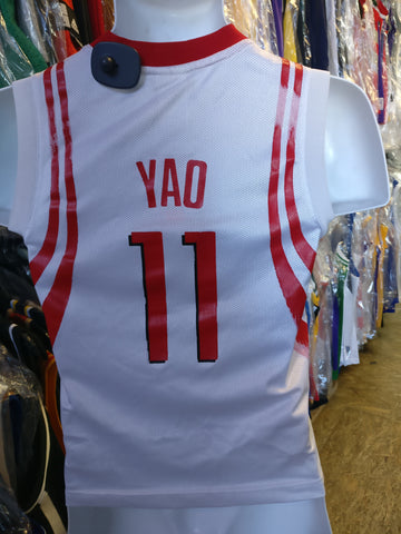 Vintage #11 YAO MING Houston Rockets NBA Reebok Jersey YS