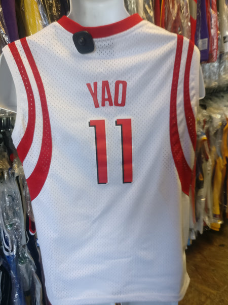 5c56f042a9d Vintage  11 YAO MING Houston Rockets NBA Reebok Authentic Jersey YL ...