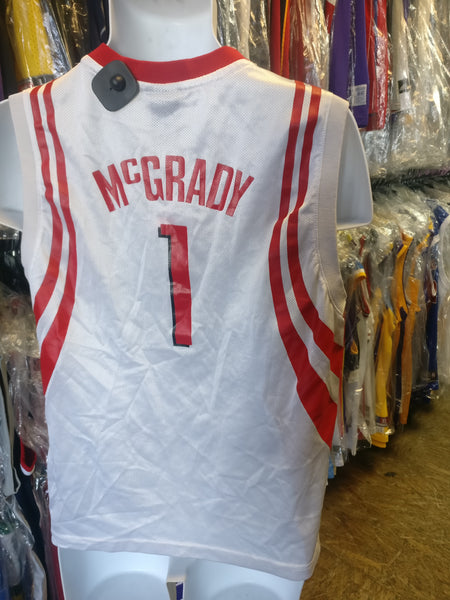 Vintage #1 TRACY McGRADY Houston Rockets NBA Reebok Jersey YL