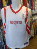 Vintage #1 TRACY McGRADY Houston Rockets NBA Reebok Jersey YXL