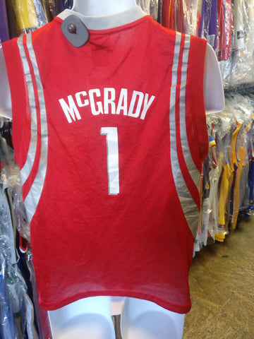 Vintage #1 TRACY McGRADY Houston Rockets NBA Adidas Jersey YL