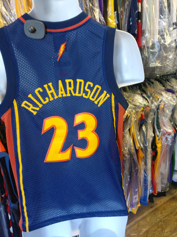Vtg#23 JASON RICHARDSON Golden State Warriors NBA Nike Jersey YM(Mint)