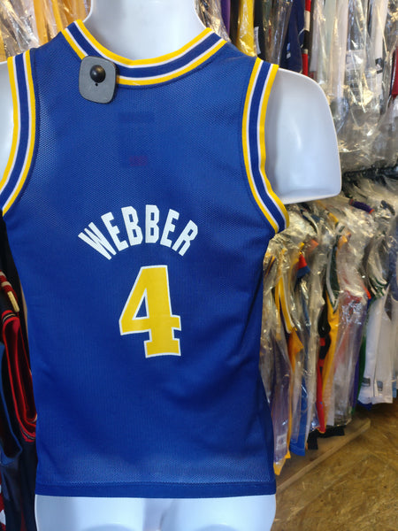 Vtg #4 CHRIS WEBBER Golden State Warriors NBA Champion Jersey 10-12