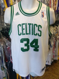 Vintage #34 PAUL PIERCE Boston Celtics NBA Adidas Authentic Jersey YXL