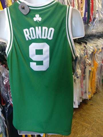 Vintage #9 RAJON RONDO Boston Celtics NBA Adidas Authentic Jersey YXL