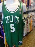 Vintage #5 RON MERCER Boston Celtics NBA Champion Jersey 48
