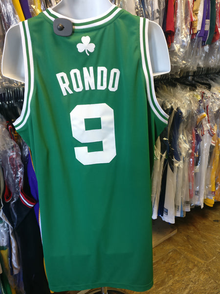 Vintage #9 RAJON RONDO Boston Celtics NBA Adidas Authentic Jersey XL