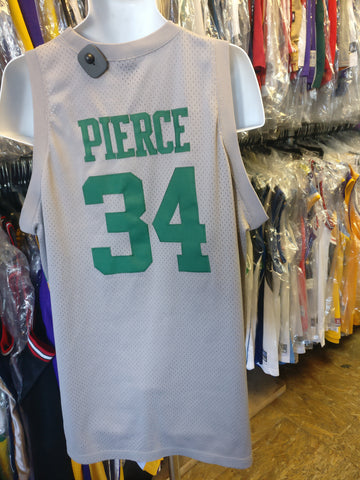 Vintage #34 PAUL PIERCE Boston Celtics NBA Nike Gray Jersey XL
