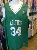 Vintage #34 PAUL PIERCE Boston Celtics NBA Nike Authentic Jersey XL