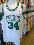Vintage #34 PAUL PIERCE Boston Celtics NBA White Nike Jersey XL