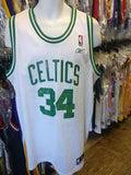 Vtg #34 PAUL PIERCE Boston Celtics NBA Reebok Authentic Jersey XL