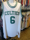 Vtg '62-'63 #6 BILL RUSSELL Celtics NBA Mitchell & Ness Jersey 3XL