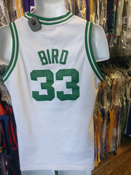 Vintage #33 LARRY BIRD Boston Celtics NBA Adidas Authentic Jersey YL