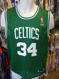 Vintage #34 PAUL PIERCE Boston Celtics NBA Reebok Jersey YL