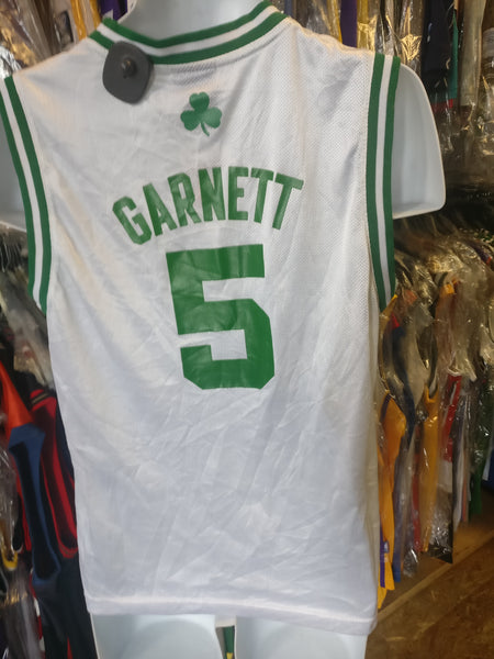 official photos 2bd10 060e8 Vintage #5 KEVIN GARNETT Boston Celtics NBA Adidas Jersey YL